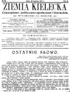 Ziemia Kielecka. Czasopismo polityczno-społeczne i literackie 1917, R.3, nr 8