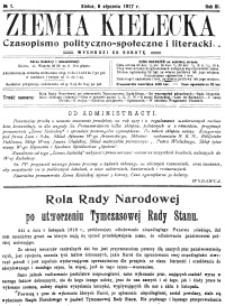 Ziemia Kielecka. Czasopismo polityczno-społeczne i literackie 1917, R.3, nr 11