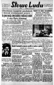 Słowo Ludu : organ Komitetu Wojewódzkiego Polskiej Zjednoczonej Partii Robotniczej, 1951, R.3, nr 206