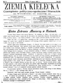Ziemia Kielecka. Czasopismo polityczno-społeczne i literackie 1917, R.3, nr 18