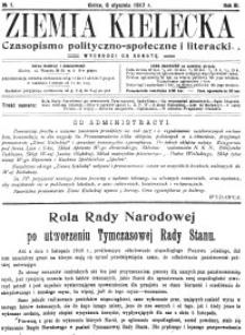 Ziemia Kielecka. Czasopismo polityczno-społeczne i literackie 1917, R.3, nr 19