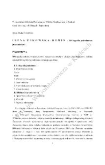 Irena Żukowska - Rumin - bibliografia podmiotowo - przedmiotowa