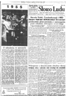 Słowo Ludu : organ Komitetu Wojewódzkiego Polskiej Zjednoczonej Partii Robotniczej, 1955, R.7, nr 142