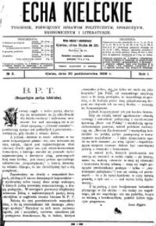 Echa Kieleckie. Tygodnik poświęcony sprawom politycznym, ekonomicznym i literaturze, 1906, R.1, nr 3