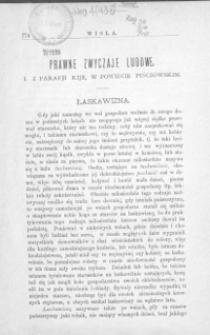 Prawne zwyczaje ludowe z parafii Kije w powiecie pińczowskim.