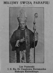 List pasterski Czesława Kaczmarka biskupa kieleckiego.