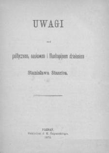 Uwagi nad politycznem, naukowem i filantropijnem działaniem Stanisława Staszica