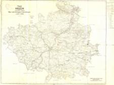 Mapa administracyjna i komunikacyjna : powiat kielecki woj. kieleckie stan na 1946 r.