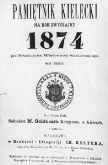 Pamiętnik Kielecki na rok zwyczajny 1874