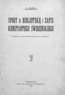 Spory o bibliotekę i zapis Konstantego Świdzińskiego
