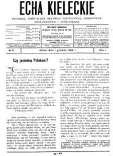 Echa Kieleckie. Tygodnik poświęcony sprawom politycznym, ekonomicznym i literaturze, 1906, R.1, nr 10