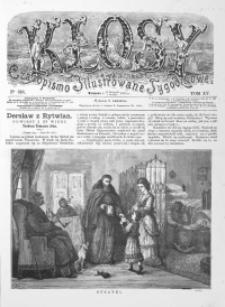 Kłosy: czasopismo ilustrowane, tygodniowe, poświęcone literaturze, nauce i sztuce, 1872, T.XV, nr 373