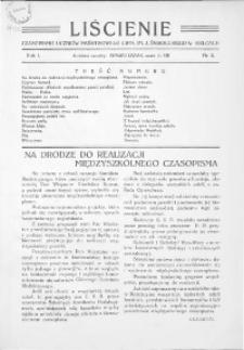 Liścienie : czasopismo uczniów Państwowego Gimn. im. J. Śniadeckiego w Kielcach, 1934, R.1, nr 1