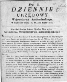 Dziennik Urzędowy Województwa Sandomierskiego 1823, nr 8-46
