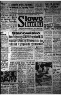 Słowo Ludu : organ Komitetu Wojewódzkiego Polskiej Zjednoczonej Partii Robotniczej, 1980, R.XXXII, nr 58