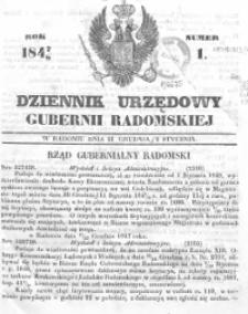 Dziennik Urzędowy Gubernii Radomskiej 1848, nr 1-53