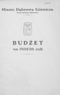 Budżet miasta Dąbrowy Górniczej na rok 1935/36