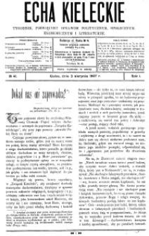 Echa Kieleckie. Tygodnik poświęcony sprawom politycznym, ekonomicznym i literaturze, 1907, R.2, nr 27