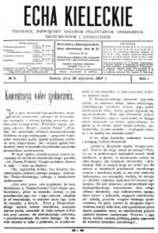 Echa Kieleckie. Tygodnik poświęcony sprawom politycznym, ekonomicznym i literaturze, 1907, R.2, nr 40