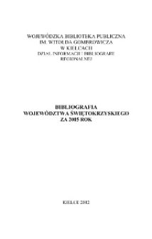 Bibliografia regionalna 2005
