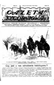 Gazeta Tygodniowa. Poświęcona sprawom religijnym, oświatowym i społecznym,1936, R.7, nr 4
