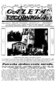 Gazeta Tygodniowa. Poświęcona sprawom religijnym, oświatowym i społecznym,1936, R.7, nr 39