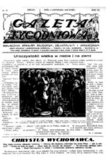 Gazeta Tygodniowa. Poświęcona sprawom religijnym, oświatowym i społecznym,1936, R.7, nr 44