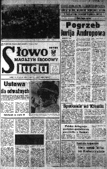 Słowo Ludu : organ Komitetu Wojewódzkiego Polskiej Zjednoczonej Partii Robotniczej, 1984, R.XXXV, nr 39
