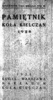 Pamiętnik Koła Kielczan 1928