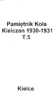 Pamiętnik Koła Kielczan 1930-1931
