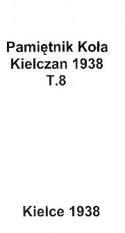 Pamiętnik Koła Kielczan 1938