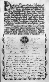Akt erekcyjny bibliotek we wszystkich gmachach województwa kieleckiego [Inc.: Działo się dnia 21 grudnia 1947 roku w Nagłowicach...]