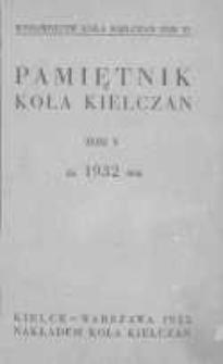 Pamiętnik Koła Kielczan 1932
