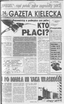 Gazeta Kielecka: 24 godziny, 1992, R.4, nr 54