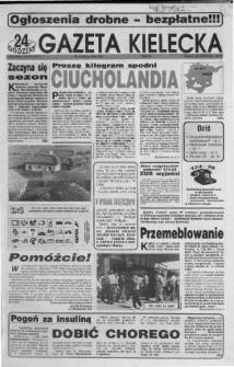 Gazeta Kielecka: 24 godziny, 1992, R.4, nr 109