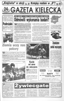 Gazeta Kielecka: 24 godziny, 1992, R.4, nr 170