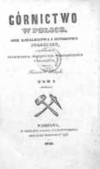 Górnictwo w Polsce : opis kopalnictwa i hutnictwa polskiego pod względem technicznym, historyczno-statystycznym i prawnym. T. 1
