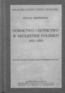 Górnictwo i hutnictwo w Królestwie Polskiem 1815-1830