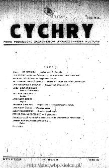 Cychry : pismo poświęcone zagadnieniom upowszechniania kultury 1946, nr 1