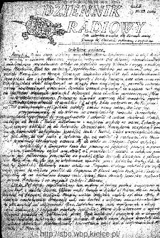 Dziennik Radiowy 1942, nr 33