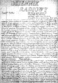 Dziennik Radiowy 1942, nr 72