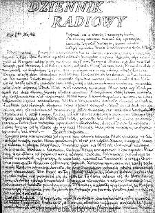Dziennik Radiowy 1942, nr 89