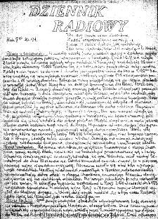 Dziennik Radiowy 1942, nr 91
