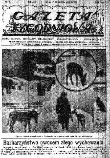 Gazeta Tygodniowa. Poświęcona sprawom religijnym, oświatowym i społecznym,1937, R.8, nr 3