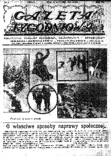 Gazeta Tygodniowa. Poświęcona sprawom religijnym, oświatowym i społecznym,1937, R.8, nr 4