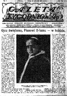 Gazeta Tygodniowa. Poświęcona sprawom religijnym, oświatowym i społecznym,1937, R.8, nr 7