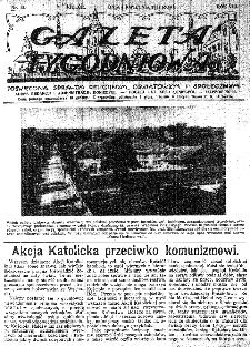 Gazeta Tygodniowa. Poświęcona sprawom religijnym, oświatowym i społecznym,1937, R.8, nr 14