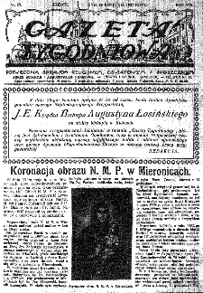 Gazeta Tygodniowa. Poświęcona sprawom religijnym, oświatowym i społecznym,1937, R.8, nr 17