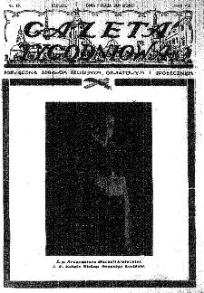 Gazeta Tygodniowa. Poświęcona sprawom religijnym, oświatowym i społecznym,1937, R.8, nr 19