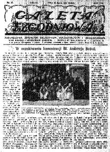 Gazeta Tygodniowa. Poświęcona sprawom religijnym, oświatowym i społecznym,1937, R.8, nr 22